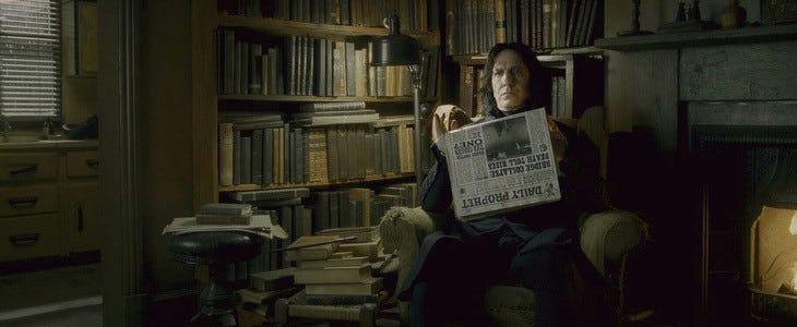 Alan Rickman dans Harry Potter et le Prince de Sang-Mêlé