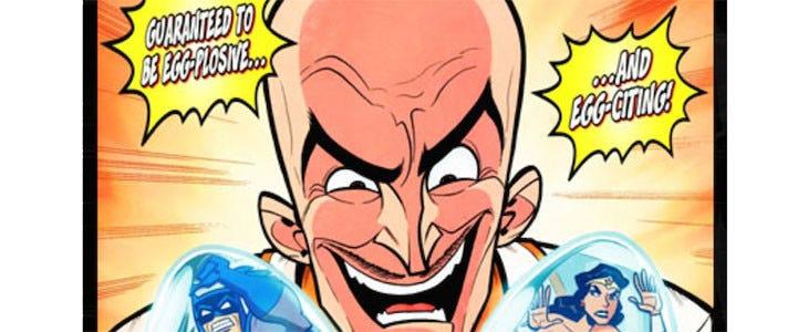 Crâne d'œuf dans les comics