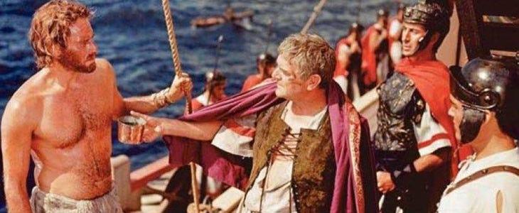 Ben-Hur sur la galère romaine