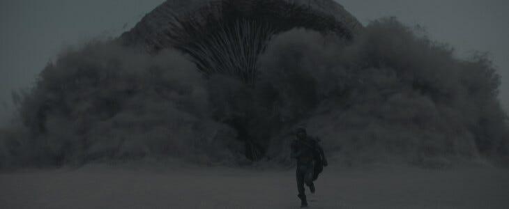 La poussière dans Dune.