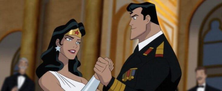Superman et Wonder Woman dans Superman : Red Son