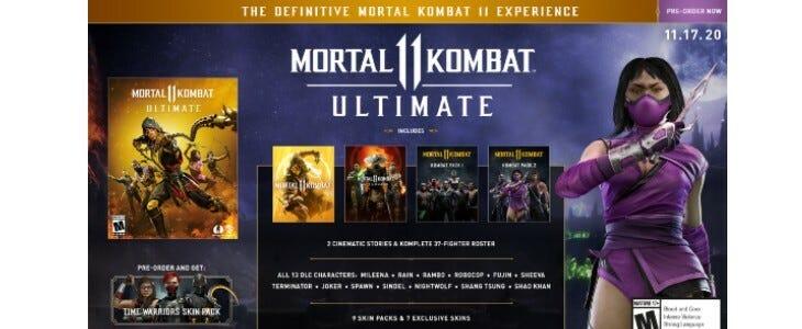 Mortal Kombat 11 Ultimate, sortie le 17 novembre 2020.