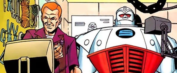 S.T.R.I.P.E et Pat Dugan dans les comics.