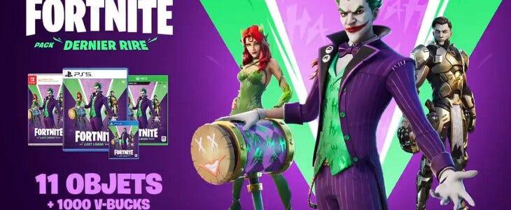 Joker dans Fortnite.