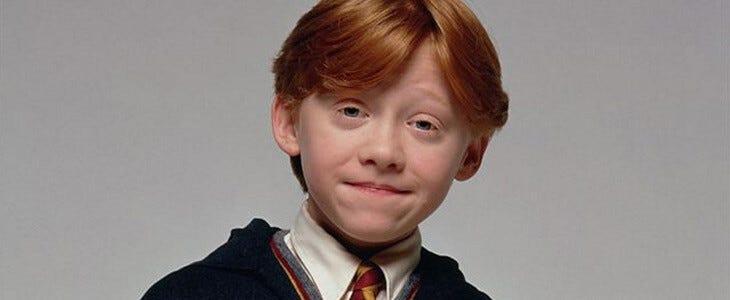 L'acteur Rupert Grint incarne Ron Weasley au cinéma.