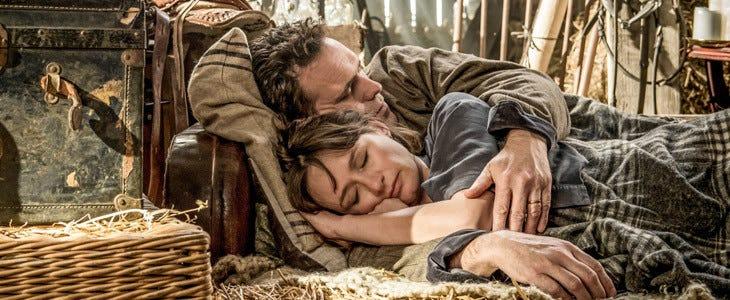 Matt Dillon et Emily Mortimer dans Du Miel plein la tête