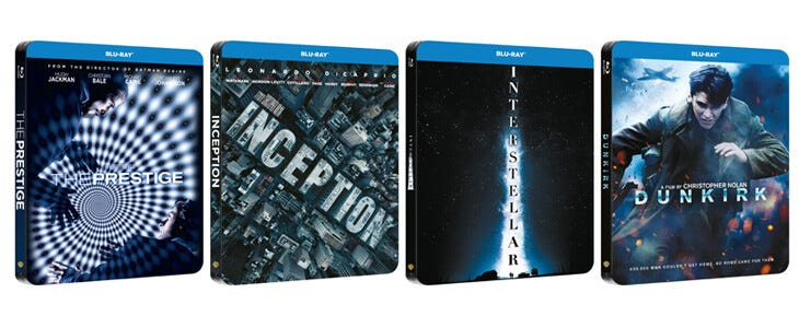 Christopher Nolan films / Blu-Ray Steelbook édition 2020