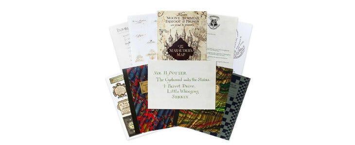 Un lot de 20 cartes postales Poudlard pour les fans de Harry Potter