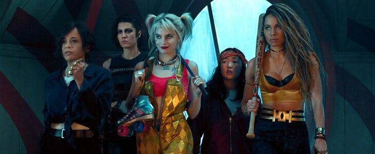Harley Quinn et sa team dans Birds of Prey, de Cathy Yan.