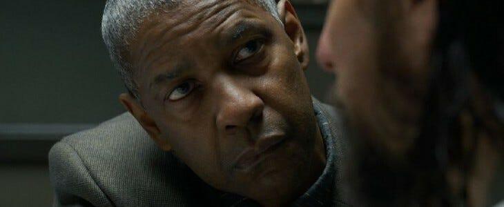 Portrait de l'acteur Denzel Washington.