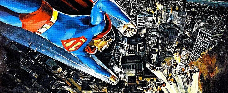Le poster original de Superman II : L'aventure continue