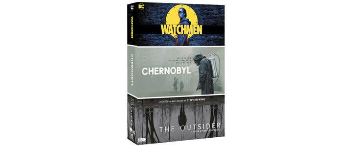 Découvrez les séries Watchmen, Chernobyl et The Outsider dans ce coffret HBO.