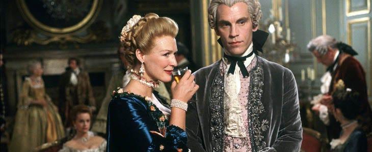 La marquise de Merteuil et le vicomte de Valmont dans Les liaisons dangereuses
