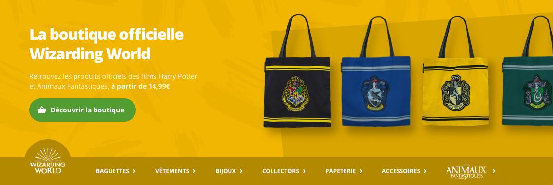 La boutique officielle Wizarding World - Harry Potter - Les Animaux Fantastiques