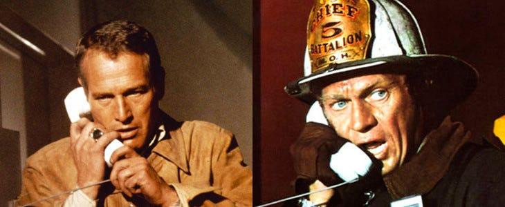La Tour Infernale, avec Steve McQueen et Paul Newman.