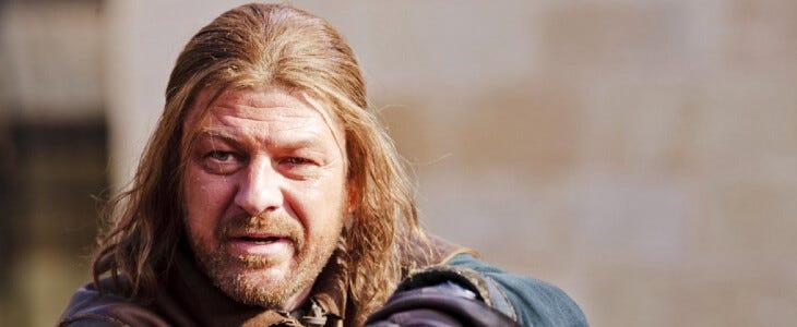 Ned Stark dans Game of Thrones.