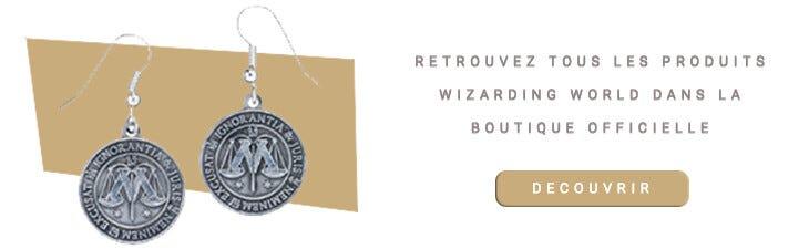 Boucles d'oreilles Ministère de la Magie Harry Potter