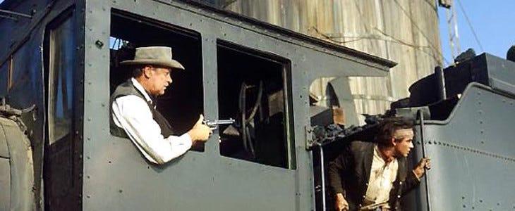 L'attaque du train dans La Horde sauvage