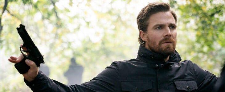 Stephen Amell dans la dernière saison d'Arrow