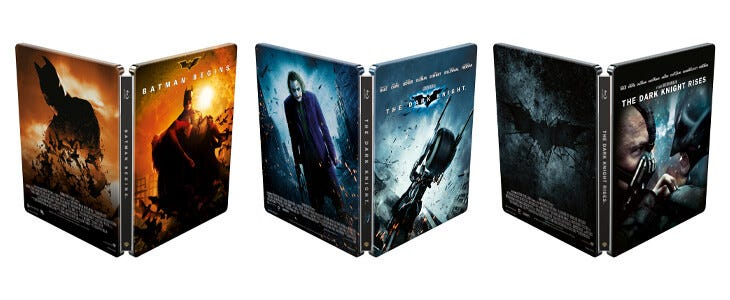 Blu-Ray Steelbook édition 2020 : trilogie Dark Knight