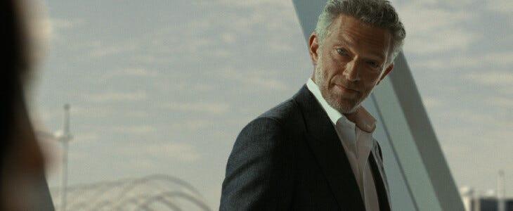 Vincent Cassel dans la saison 3 de Westworld.