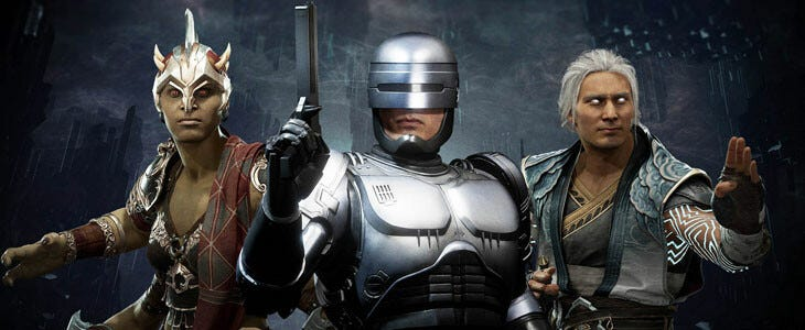 Les nouveaux personnages de MK11 Aftermatth : Sheeva, RoboCop et Fujin