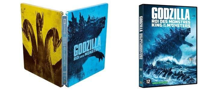 Godzilla II : Roi des monstres en Stellbook et DVD