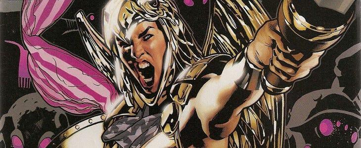 Wonder Woman en tenue de guerrière