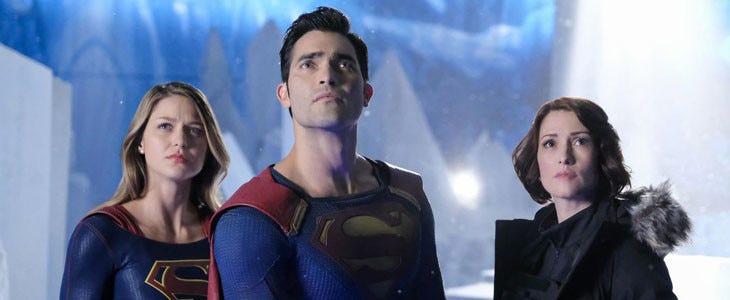 Melissa Benoist et Tyler Hoechlin dans Supergirl
