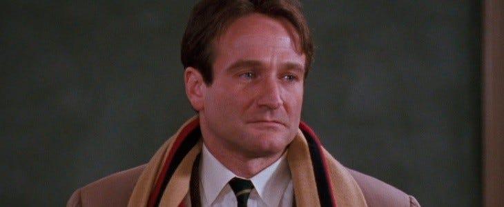 Robin Williams dans Le Cercle des poètes disparus