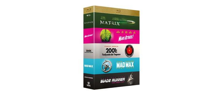 Coffret 5 films iconiques Science-fiction - Matrix - %ars Attacks ! - 2001 L'odyssée de l'espace - Matric - Mad Max Fury Road - Blade Runner Director's cut