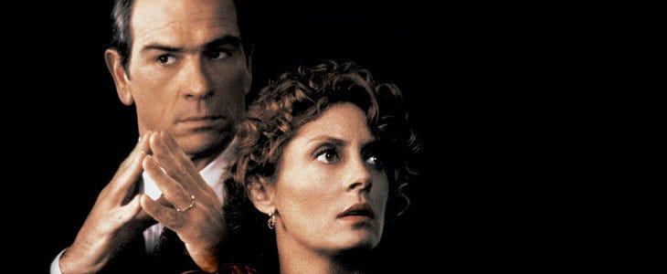 Tommy Lee Jones et Susan Sarandon, les deux vedettesdu film Le Client