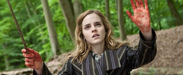 Emma Watson dans Harry Potter et les Reliques de la Mort, partie 1.