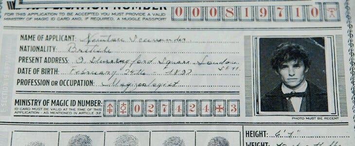 La demande de permis de port de baguette magique de Norbert Dragonneau