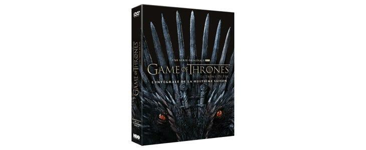Le coffret de la huitième saison de Game of Thrones