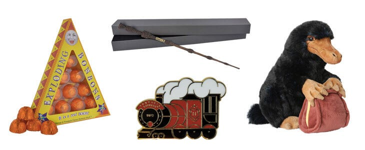 Découvrez tous ces produits sur The Harry Potter Shop !