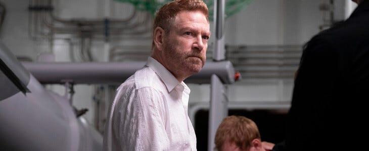 Kenneth Branagh dans le rôle d'Andrei Sator dans Tenet