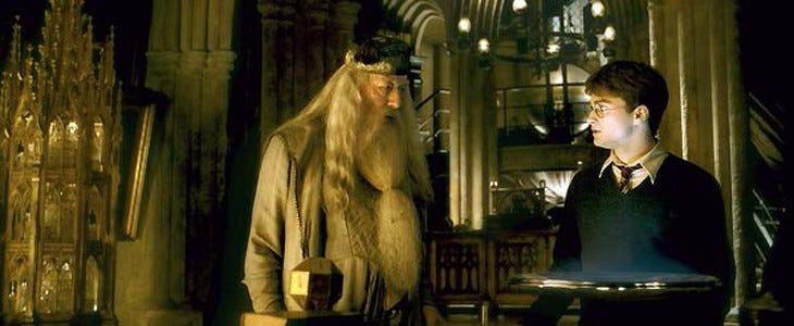 Harry Potter et Dumbledore