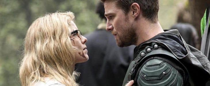 Felicity Smoak et Oliver Queen alias Arrow
