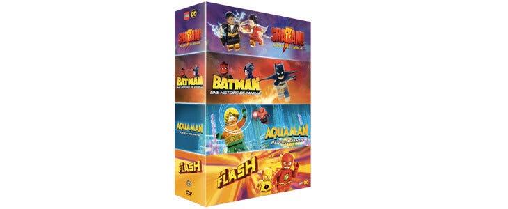Retrouvrez vos héros favoris de l'univers DC dans ce coffret de 4 films animés version LEGO.