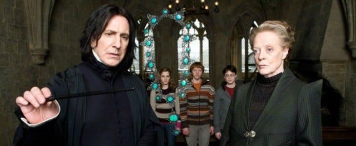 Rogue, la star de la saga Harry Potter.