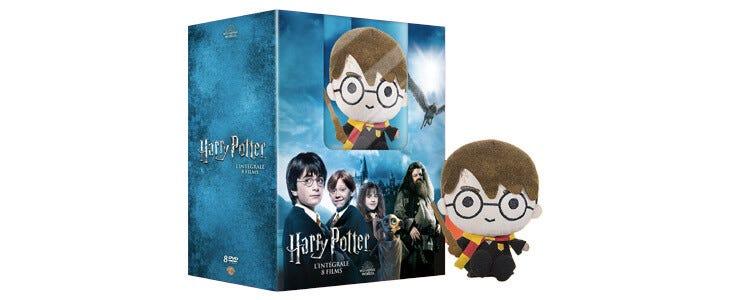 Offrez-vous l'intégrale de la saga Harry Potter en DVD et une adorable peluche !