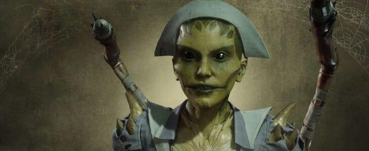D'Vorah : Antidote Mauvais dans le pack veille de la Toussaint de Mortal Kombat 11 : Aftermath.