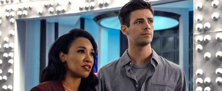 Candice Patton et Grant Gustin dans Flash saison 6