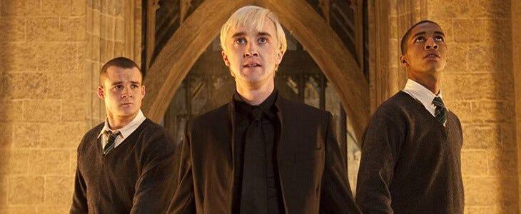 Joshua Herdman et Tom Felton dans Harry Potter et les Reliques de la Mort