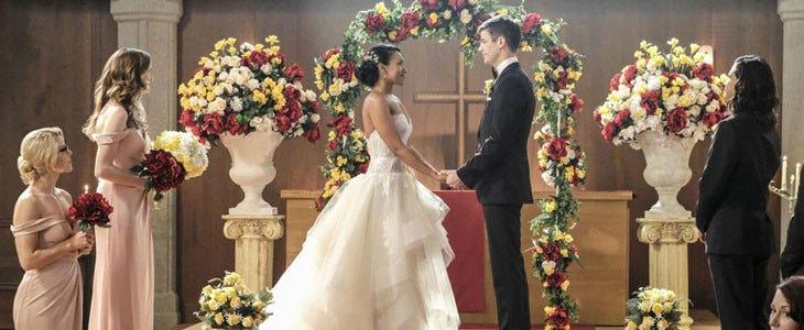 Le mariage de Iris et Barry Allen dans Flash