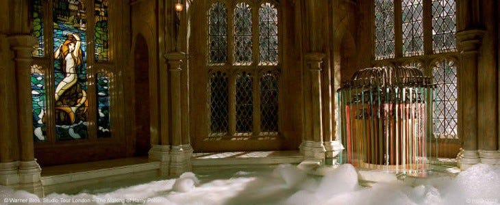 La salle de bains des préfets au Studio Tour Harry Potter