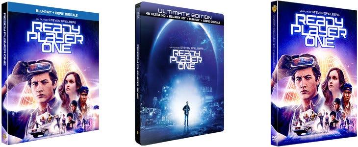 Ready Player One en téléchargement définitif et en DVD, Blu-Ray et Steelbook 4K