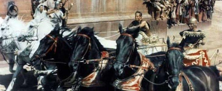 La célèbre course de chars dans Ben-Hur