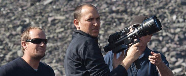 Louis Leterrier sur le tournage du Choc des Titans